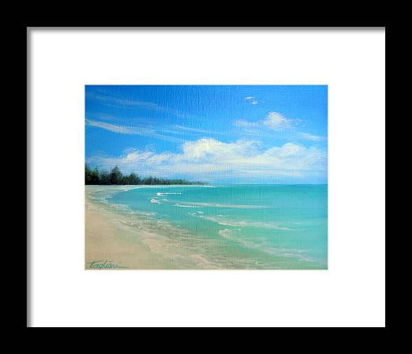 Island Framed Print featuring the painting Barrier Island Beauty by Mary Taglieri