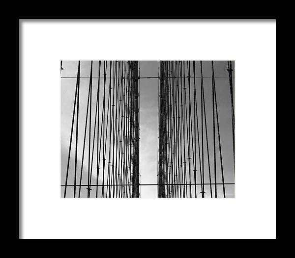 Brooklyn Bridge Framed Print featuring the photograph Barrier To The Sky by Mark Szep