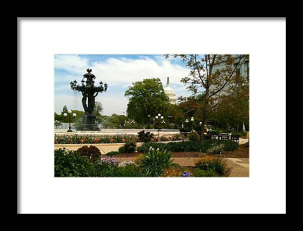 Bartholdi Fountain Framed Print featuring the photograph Bartholdi Fountain by Lois Ivancin Tavaf