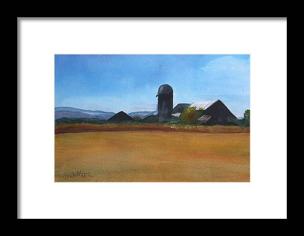 Art Framed Print featuring the painting Barton Farm by Donna Walsh
