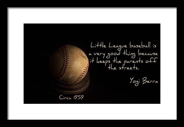 Sport Framed Print featuring the photograph Baseball by Cecil Fuselier