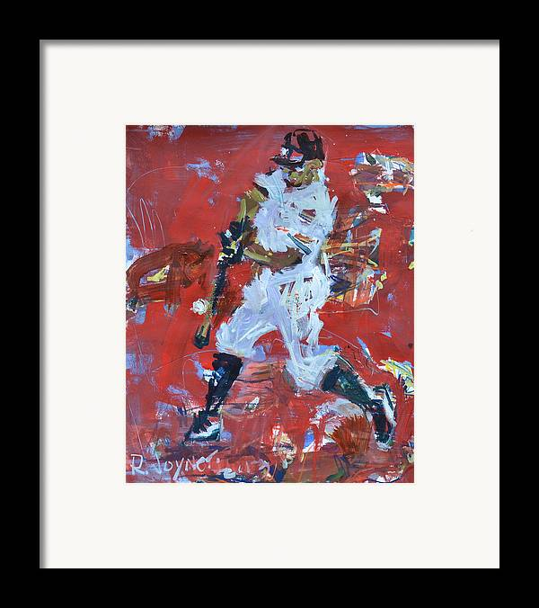 Art Framed Print featuring the mixed media Baseball Painting by Robert Joyner