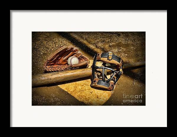 Paul Ward Framed Print featuring the photograph Baseball Play Ball by Paul Ward