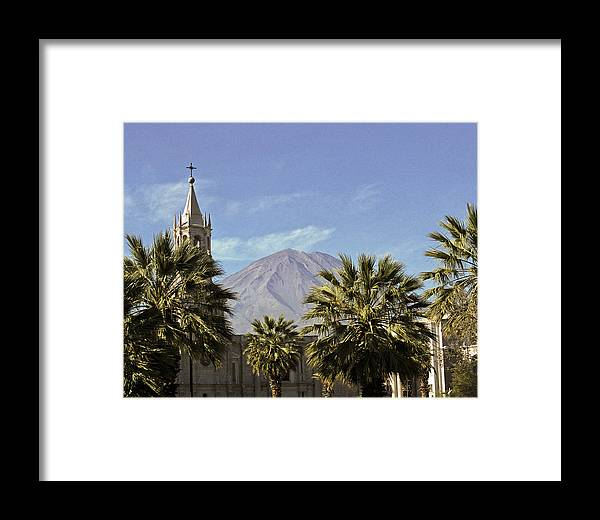 Cathedral Framed Print featuring the photograph Basilica Cathedral In Arequipa Peru by Jared Bendis