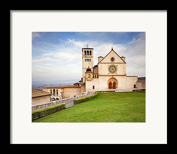 Italy Framed Print featuring the photograph Basilica Of Saint Francis by Susan Schmitz