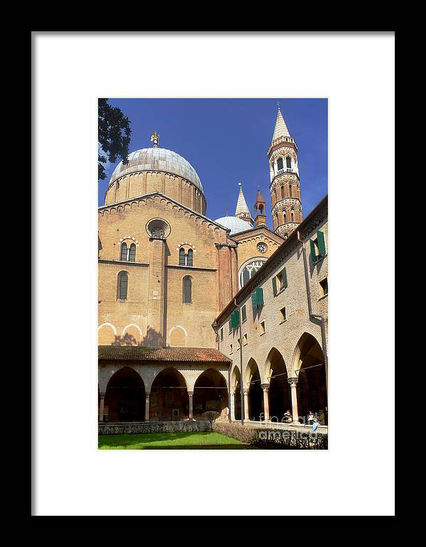Europe Framed Print featuring the photograph Basilica San Antonio Padova Italy 1 by Rudi Prott