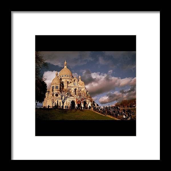 Basilica Framed Print featuring the photograph #basilique #basilica #paris #sacrecoeur by Ozan Goren