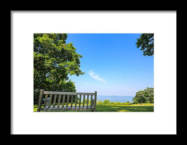 Chair Framed Print featuring the photograph Bask In Beauty by Gaurav Singh