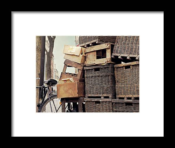 Outdoors Framed Print featuring the photograph Baskets In Paris by Sharon Lapkin