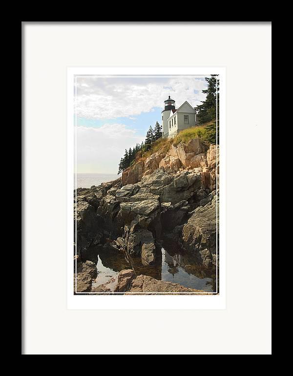 Bass Harbor Framed Print featuring the photograph Bass Harbor Head Lighthouse by Mike McGlothlen