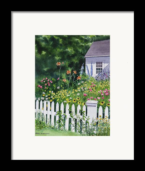 Cottage Framed Print featuring the painting Bass River Cottage by Karol Wyckoff