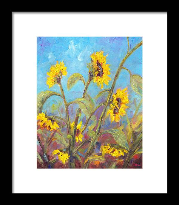 Sunflower Framed Print featuring the painting Bathing Beauties by Jeff Pittman