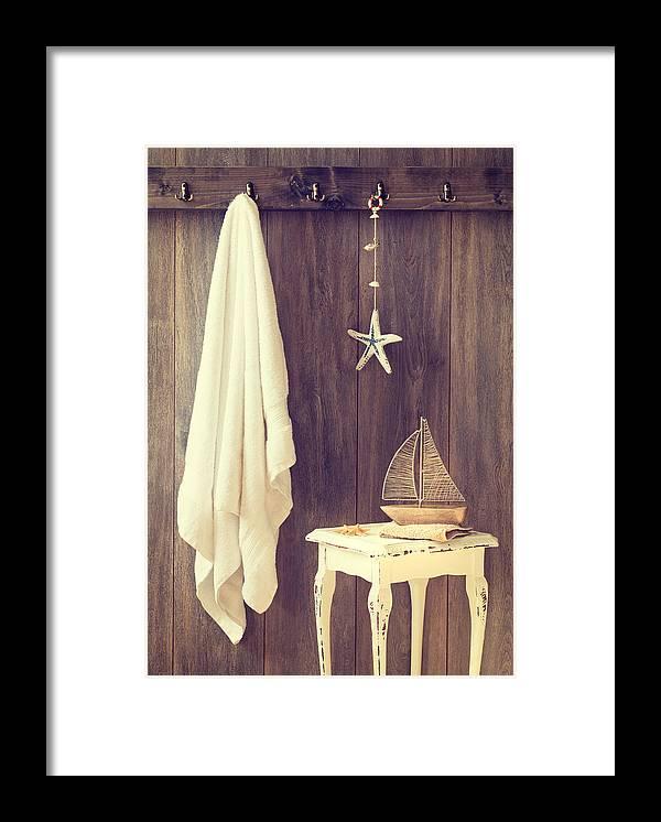 Bathroom Framed Print featuring the photograph Bathroom Interior by Amanda Elwell