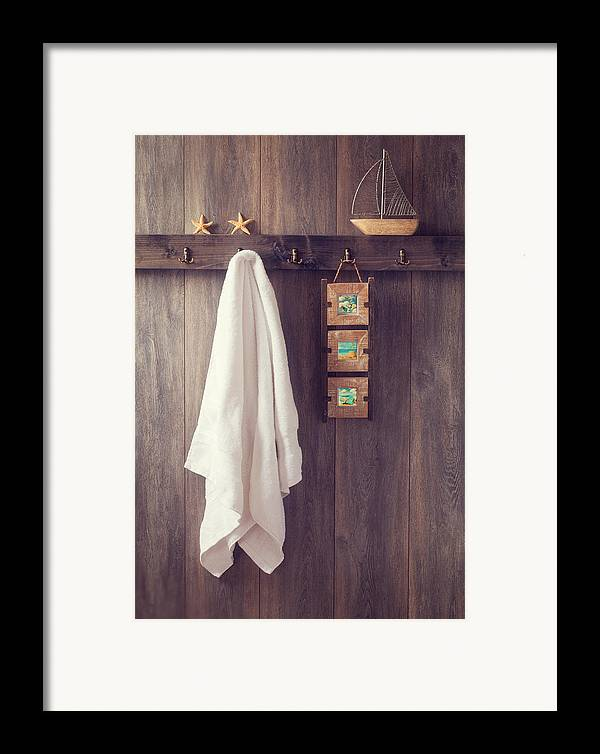 Bathroom Framed Print featuring the photograph Bathroom Wall by Amanda Elwell