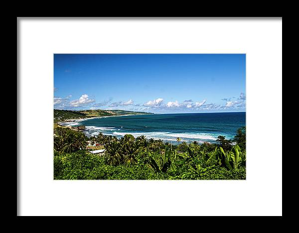 Barbados Framed Print featuring the photograph Bathsheba, Barbados by Jolly Sienda