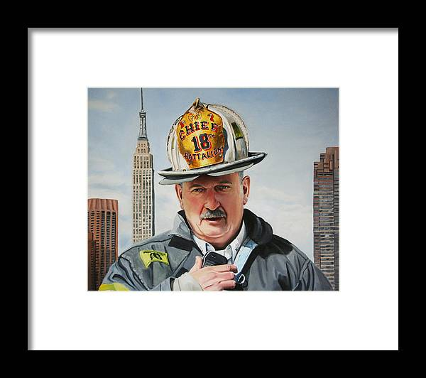 Chief Framed Print featuring the painting Battalion Commander Chief Salka by Paul Walsh
