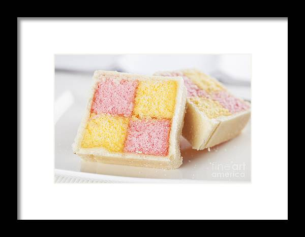 Image Framed Print featuring the photograph Battenberg Cakes by Charlotte Lake