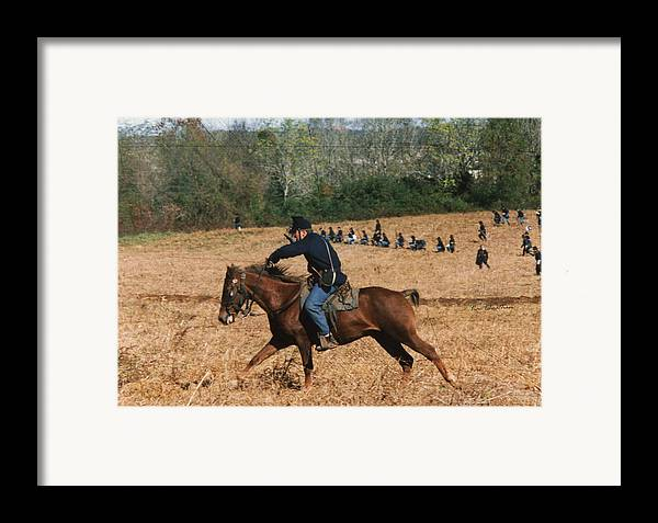 Horse Framed Print featuring the digital art Battle Of Franklin - 4 by Kae Cheatham