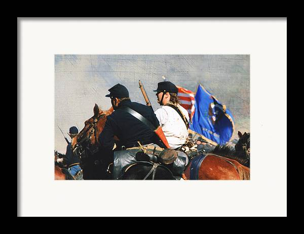 Reenactment Framed Print featuring the photograph Battle Of Franklin - 2 by Kae Cheatham