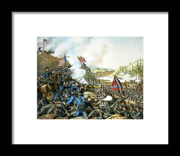 Franklin Tennessee Framed Print featuring the digital art Battle Of Franklin by Unknown