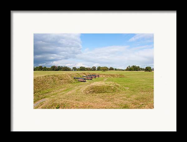 Sky Framed Print featuring the photograph Battle Of Yorktown Battlefield by John M Bailey