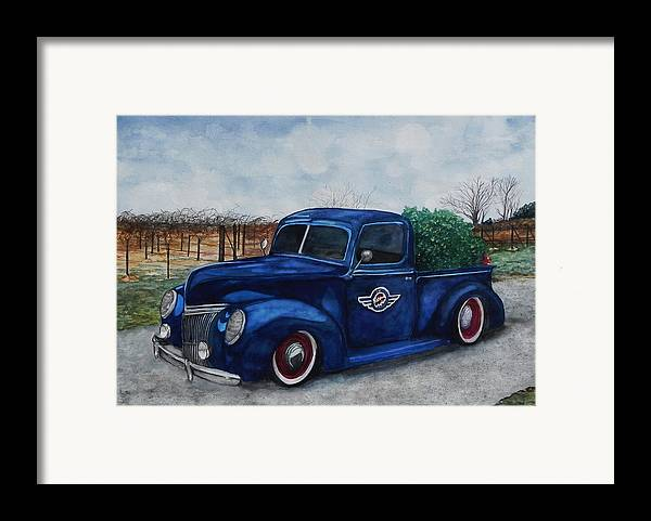 Truck Framed Print featuring the painting Baxter Truck by Stacey Pilkington-Smith