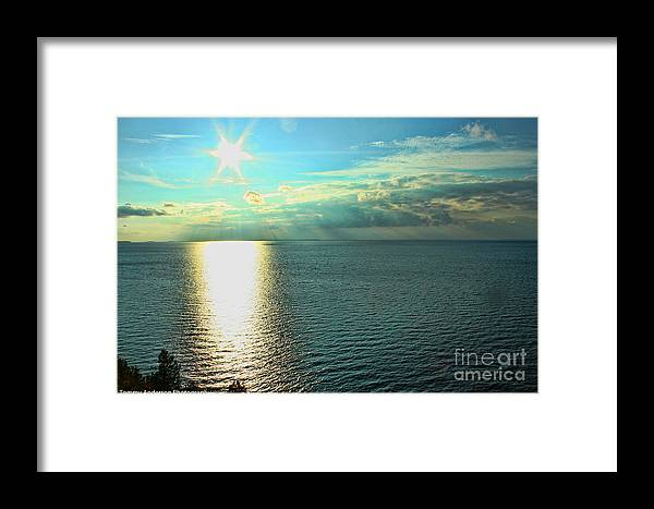 Wisconsin Framed Print featuring the photograph Bay Of Green Bay Wi by Tommy Anderson