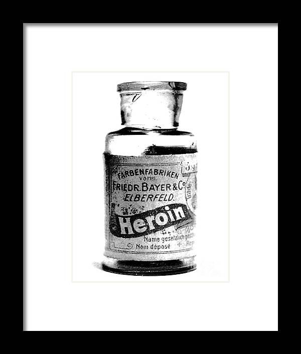 Bayer Company Sells Heroin Around 1900 Framed Print by Merton Allen