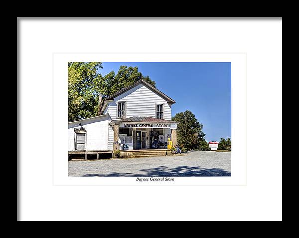 Baynes General Store Framed Print by Terry Spencer