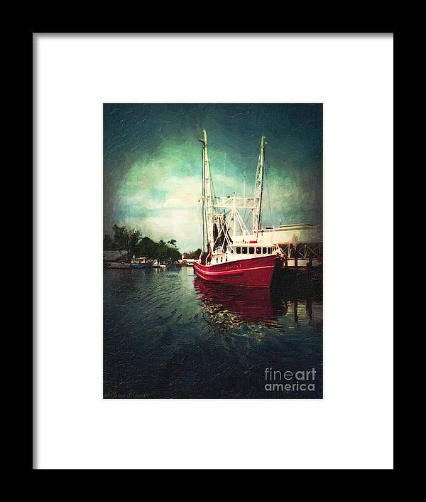 Lianne_schneider Framed Print featuring the digital art Bayou Labatre by Lianne Schneider