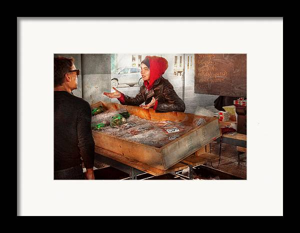 Amsterdam Market Framed Print featuring the photograph Bazaar - I Sell Fish by Mike Savad
