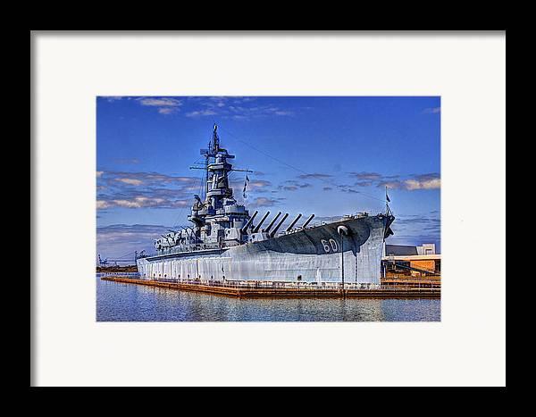 Ww Ii Framed Print featuring the photograph Bb-60 Uss Alabama by Barry Jones