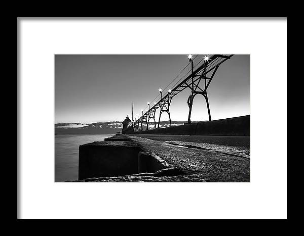 Pier Framed Print featuring the photograph Be Here Now by Freddie Bennett