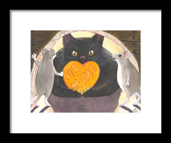 Cat Framed Print featuring the painting Be Mine by Catherine G McElroy