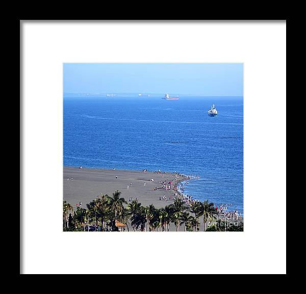 Island Framed Print featuring the photograph Beach And Ocean On Chijin Island by Yali Shi