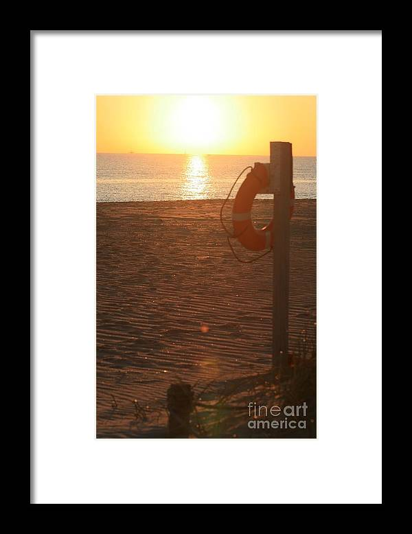 Beach Framed Print featuring the photograph Beach At Sunset by Nadine Rippelmeyer
