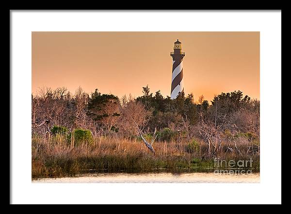 Atlantic Ocean Framed Print featuring the pyrography Beach Beacon by Dan Waters