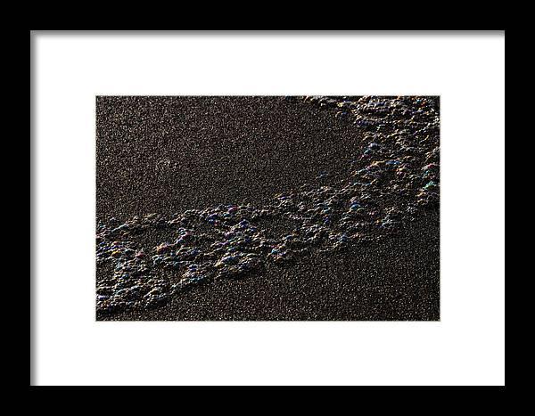 Beach Bubbles Framed Print featuring the photograph Beach Bubbles - 6 Of 8 by Scott Lenhart