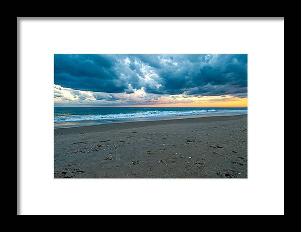 Clouds Framed Print featuring the photograph Beach Clouds by Paul Johnson