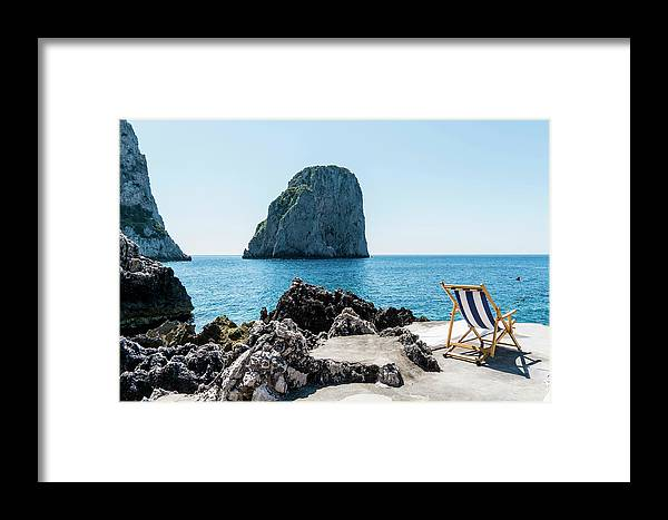 Scenics Framed Print featuring the photograph Beach Club La Fontanella, Capri by Arnt Haug / Look-foto