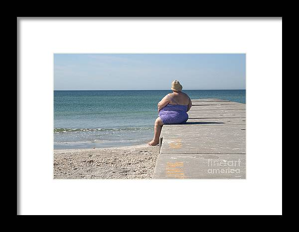 Beach Framed Print featuring the photograph Beach Dreamer by Madeline Ellis