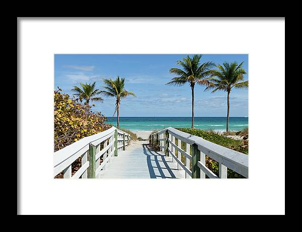 Florida Framed Print featuring the photograph Beach Entrance, Florida by Kubrak78