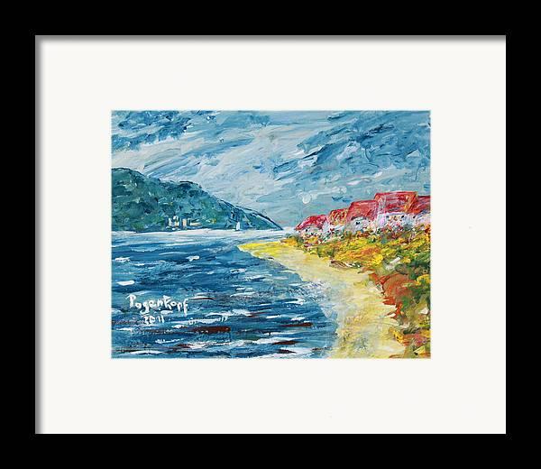 Beach houses framed print by monika pagenkopf for Beach house prints