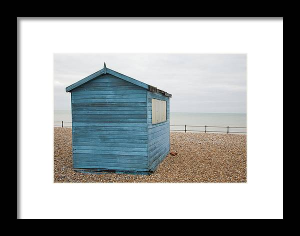 Kingsdown Framed Print featuring the photograph Beach Hut At Kingsdown by Ian Middleton