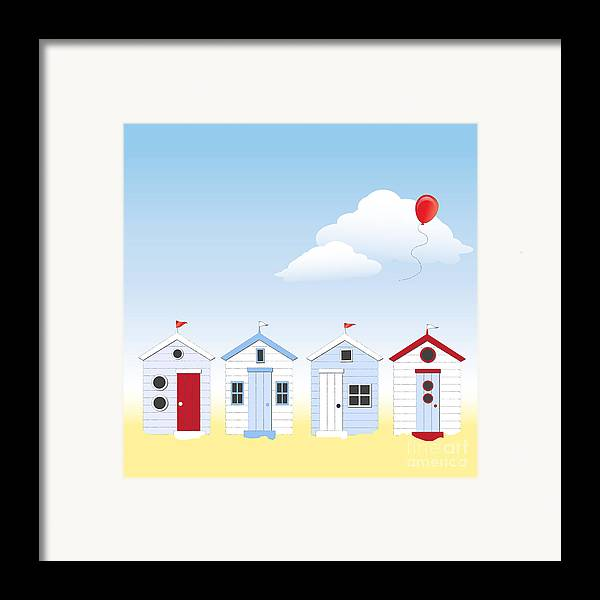 Angle Framed Print featuring the photograph Beach Huts by Jane Rix