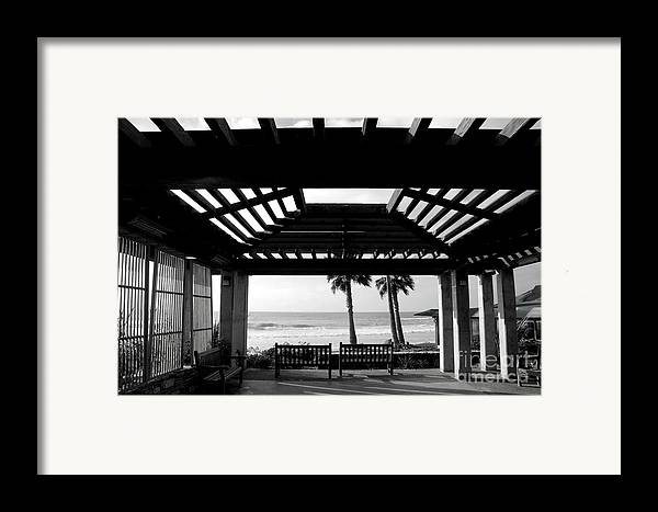 Architecture Framed Print featuring the photograph Beach In Del Mar California by Julia Hiebaum