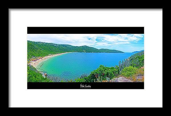 Beach Framed Print featuring the photograph Beach Panorama - Brasil by Victor Cavalera