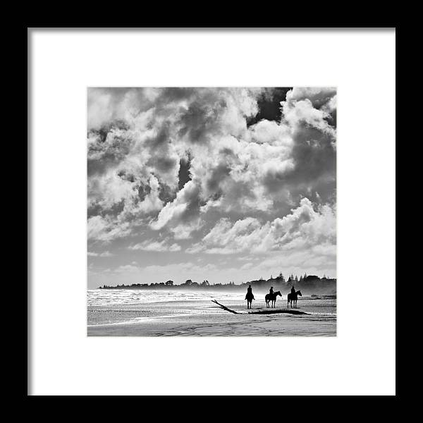 Ride Framed Print featuring the photograph Beach Riders by Dave Bowman