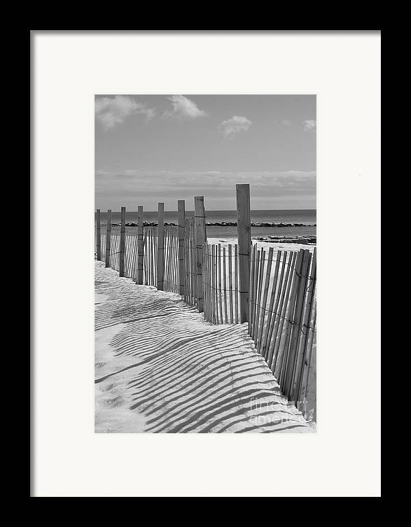 Snow Framed Print featuring the photograph Beach Snow by Catherine Reusch Daley