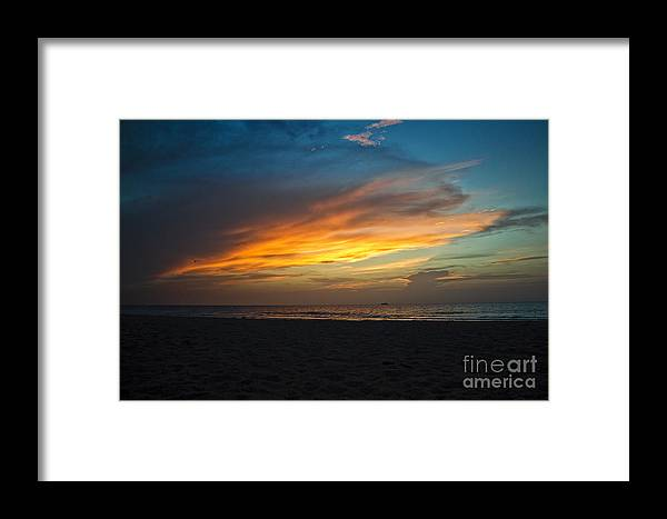 Sunrise Framed Print featuring the photograph Beach Sunrise by Brahimou NG